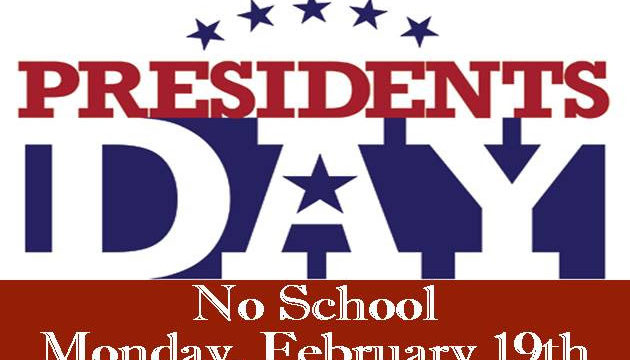 No School this Monday 2/19